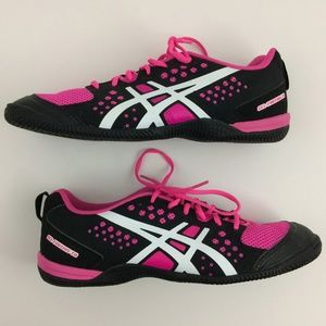 Asics Womens Training Running Shoes Black & Pink